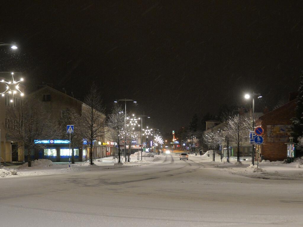 talvikuva keskustasta