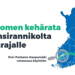 Poikittaissuuntainen Suomen kehärata parantamaan rautatieliikenteen kilpailukykyä