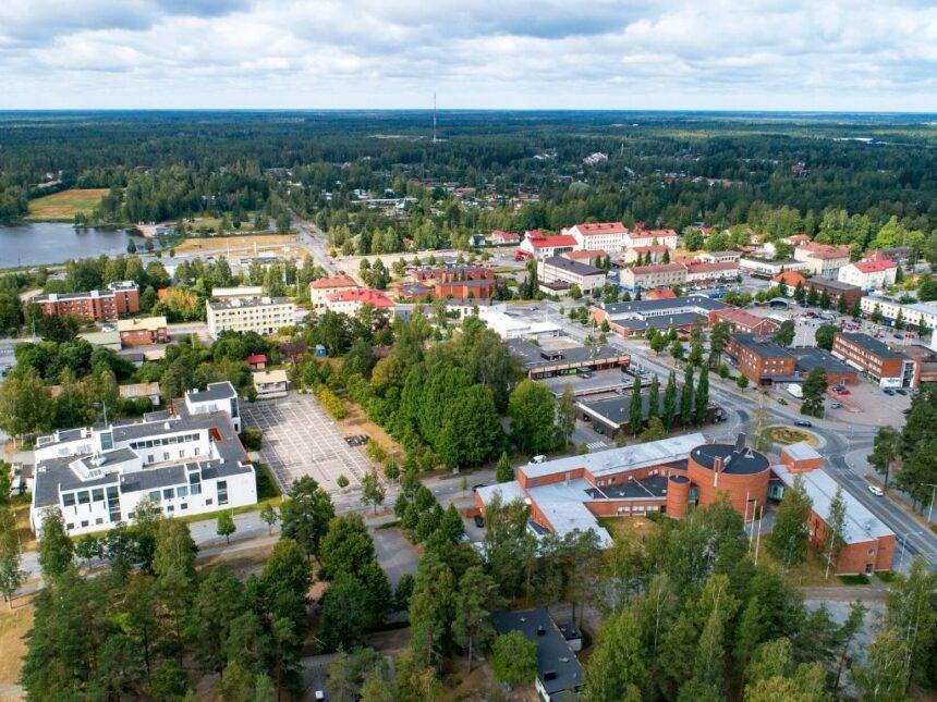Ilmakuva Kankaanpään keskustasta