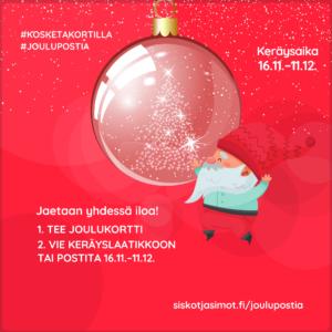 Kankaanpää mukana Joulupostia ikäihmisille -kampanjassa