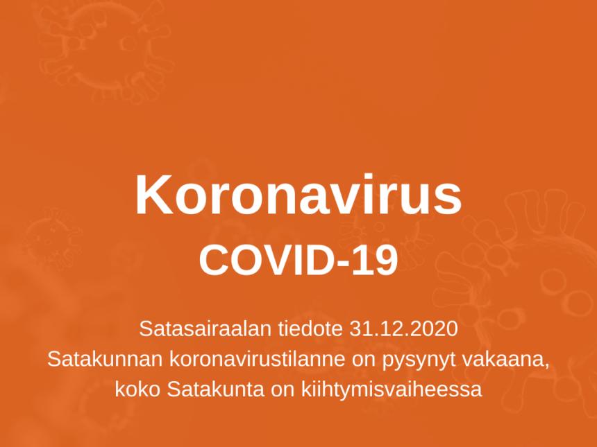 Satasairaala tiedottaa koronatilanteesta 31.12.2020