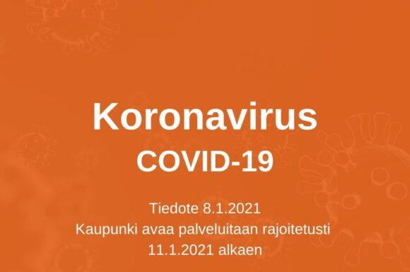 Koronatilanne Satakunnan alueella paranemassa – Kankaanpään kaupunki avaa palveluitaan rajoitetusti 11.1.2021 alkaen