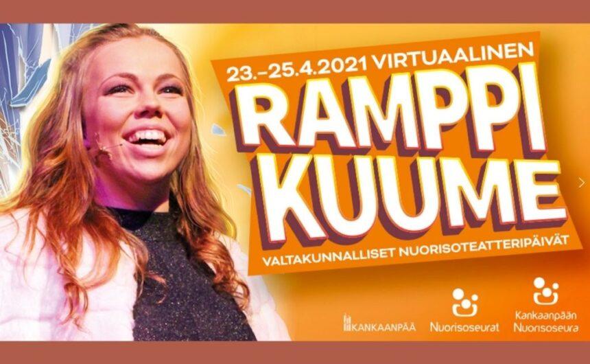 Ramppikuume – Valtakunnalliset Nuorisoteatteripäivät huhtikuussa virtuaalisena festivaalina